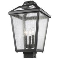 Z-Lite Bayland 3 Light Post Mount Light in Black 539PHBS-BK