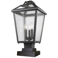 Z-Lite Bayland 3 Light Pier Mount Light in Black 539PHBS-SQPM-BK