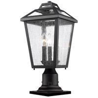 Z-Lite Bayland 3 Light Pier Mount Light in Black 539PHMR-533PM-BK
