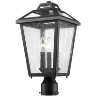 Z-Lite Bayland 3 Light Post Mount Light in Black 539PHMR-BK