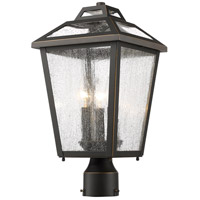 Z-Lite 539PHMR-ORB Bayland 3 Light 18 inch Oil Rubbed Bronze Outdoor Post Mount Fixture in 6.17
