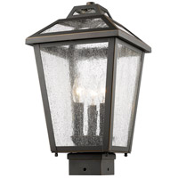 Z-Lite 539PHMS-ORB Bayland 3 Light 16 inch Oil Rubbed Bronze Outdoor Post Mount Fixture in 6.3