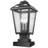 Z-Lite Bayland 3 Light Pier Mount Light in Black 539PHMS-SQPM-BK