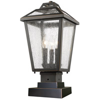 Bayland 3 Light 19 inch Oil Rubbed Bronze Outdoor Pier Mount