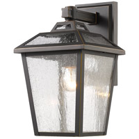 Z-Lite 539S-ORB Bayland 1 Light 13 inch Oil Rubbed Bronze Outdoor Wall Sconce, back plate is 4.50 w x 8