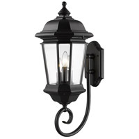 Melbourne 3 Light 26 inch Black Outdoor Wall Light