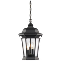 Z-Lite 540CHB-BK Melbourne 3 Light 10 inch Black Outdoor Chain Mount Ceiling Fixture