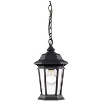 Z-Lite 540CHM-BK Melbourne 1 Light 8 inch Black Outdoor Chain Mount Ceiling Fixture