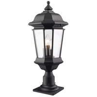 Melbourne 3 Light 25 inch Black Outdoor Pier Mount