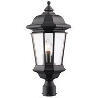 Melbourne 3 Light 23 inch Black Outdoor Post Light