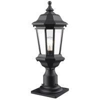 Z-Lite 540PHM-533PM-BK Melbourne 1 Light 20 inch Black Outdoor Pier Mounted Fixture