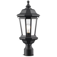 Melbourne 1 Light 19 inch Black Outdoor Post Light