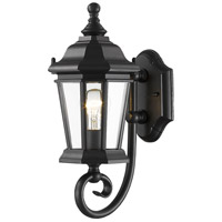 Melbourne 1 Light 15 inch Black Outdoor Wall Sconce