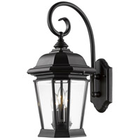 Melbourne 3 Light 22 inch Black Outdoor Wall Light