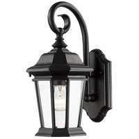 Melbourne 1 Light 16 inch Black Outdoor Wall Light