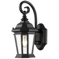 Melbourne 1 Light 14 inch Black Outdoor Wall Light