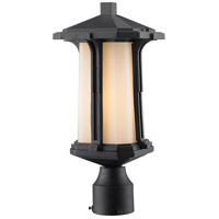 Z-Lite 542PHM-BK Harbor Lane 1 Light 17 inch Black Outdoor Post Mount Fixture