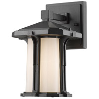Z-Lite Harbor Lane 1 Light Outdoor Wall Light in Black 542S-BK
