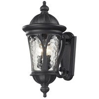 Z-Lite Doma 3 Light Outdoor Wall Light in Black 543M-BK