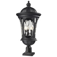 Z-Lite 543PHB-BK-PM Doma 3 Light 30 inch Black Outdoor Pier Mount