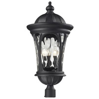 Doma 5 Light 28 inch Black Outdoor Post Light Head