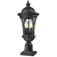 Z-Lite Doma 3 Light Outdoor Pier Mount Light in Black 543PHM-BK-PM