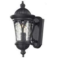 Z-Lite 543S-BK Doma 1 Light 14 inch Black Outdoor Wall Sconce