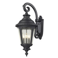 Z-Lite Medow 4 Light Outdoor Wall Light in Black 545B-BK