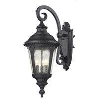 Medow 3 Light 24 inch Black Outdoor Wall Sconce