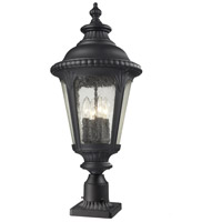 Z-Lite Medow 4 Light Outdoor Pier Mount Light in Black 545PHB-BK-PM