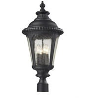 Medow 4 Light 26 inch Black Outdoor Post Light Head