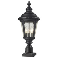 Medow 3 Light 27 inch Black Outdoor Pier Mounted Fixture