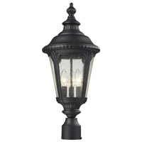 Z-Lite 545PHM-BK Medow 3 Light 25 inch Black Outdoor Post