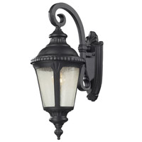 Z-Lite Medow 1 Light Outdoor Wall Light in Black 545S-BK