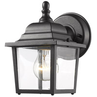 Waterdown 1 Light 8 inch Black Outdoor Wall Light
