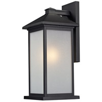 Z-Lite Vienna 1 Light Outdoor Wall Light in Black 547B-BK