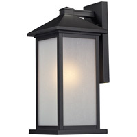 Z-Lite Vienna 1 Light Outdoor Wall Light in Black 547M-BK