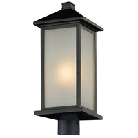 Z-Lite Vienna 1 Light Outdoor Post Light Head in Black 547PHB-BK-R