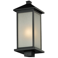 Z-Lite Vienna 1 Light Outdoor Post Light Head in Black 547PHB-BK