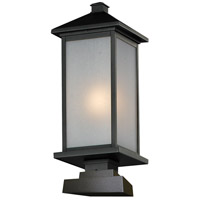 Z-Lite 547PHB-SQPM-BK Vienna 1 Light 25 inch Black Outdoor Pier Mount