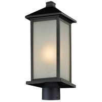 Z-Lite Vienna 1 Light Outdoor Post Light Head in Black 547PHM-BK-R