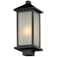 Z-Lite 547PHM-BK Vienna 1 Light 20 inch Black Outdoor Post Mount Fixture