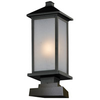 Z-Lite 547PHM-SQPM-BK Vienna 1 Light 23 inch Black Outdoor Pier Mount