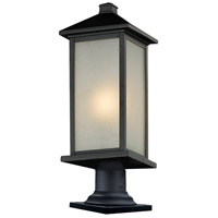 Vienna 1 Light 23 inch Black Outdoor Pier Mount