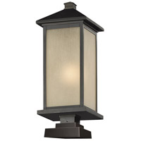 Z-Lite Vienna 1 Light Outdoor Pier Mount Light in Oil Rubbed Bronze 548PHB-SQPM-ORB