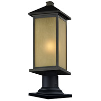 Z-Lite Vienna 1 Light Outdoor Pier Mount Light in Oil Rubbed Bronze 548PHBR-533PM-ORB