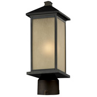 Z-Lite 548PHM-ORB-R Vienna 1 Light 22 inch Oil Rubbed Bronze Post Mount Light