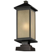 Z-Lite Vienna 1 Light Outdoor Pier Mount Light in Oil Rubbed Bronze 548PHM-SQPM-ORB