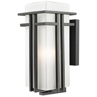 Abbey 1 Light 17 inch Black Outdoor Wall Sconce