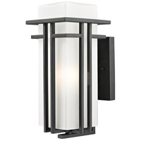 Z-Lite Abbey 1 Light Outdoor Wall Light in Black 549M-BK